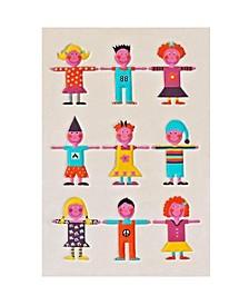 "Kids Multi-color Soft Nursery Rug - 59""L x 39""W"