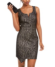 BCX Juniors' Animal-Print Lace Sheath Dress