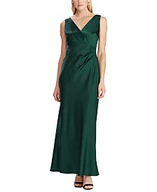 Lauren Ralph Lauren Sleeveless Satin Evening Gown, Created For Macy's