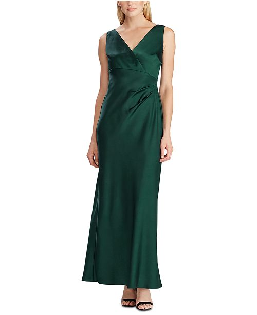 Sleeveless Satin Evening Gown, Created For Macy\'s