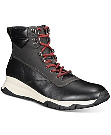 Men's Reggie Leather Alpine Boot, Created for Macy's