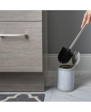 Bath Bliss Self Closing Lid Toilet Brush and Holder Bedding