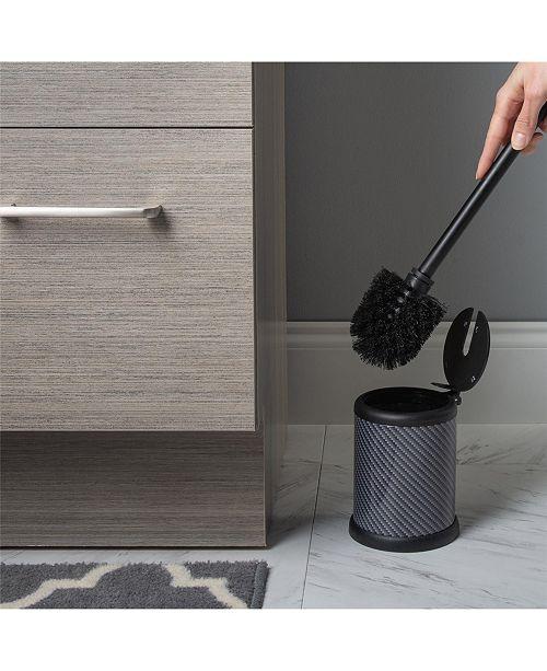 Bath Bliss Self Closing Lid Toilet Brush and Holder