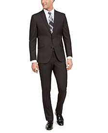 Unlisted Men's Slim-Fit Stretch Black Pindot Suit