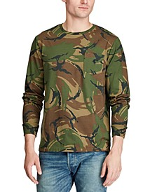 Men's Jersey Cotton Camo Long Sleeve T-Shirt