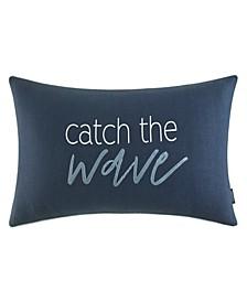 """Catch The Wave 14"""" X 26"""" Throw Pillow"""