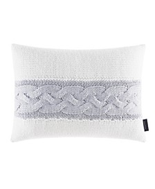 """Jeans Co Claridge Stripe Knit 14"""" X 20"""" Throw Pillow"""
