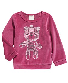 First Impressions Toddler Girls Teddy Bear Velour Top, Created For Macy's