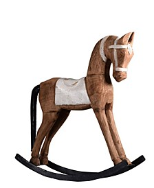 Rocking Horse in Weathered Vintage-Inspired Distressed Retro Finish