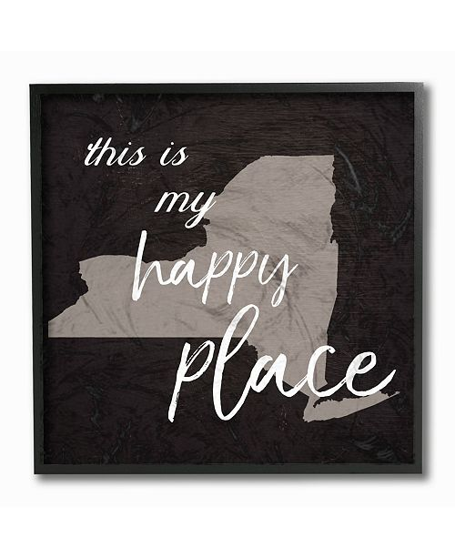 """Stupell Industries This is My Happy Place New York Framed Giclee Art, 12"""" x 12"""""""