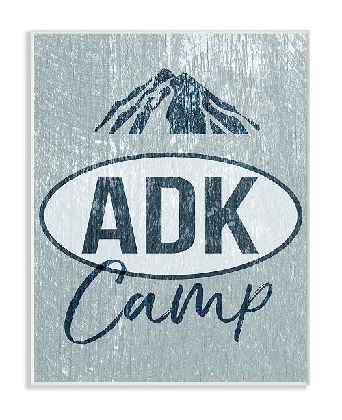 """Stupell Industries ADK Camp Mountains Adirondack Wall Plaque Art, 10"""" x 15"""""""