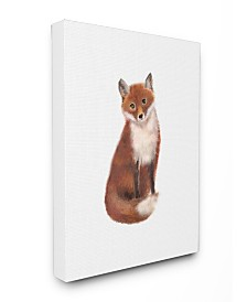 """Stupell Industries Red Fox Watercolor Illustration Canvas Wall Art, 24"""" x 30"""""""
