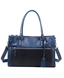 Senna Leaf Leather Tote Bag