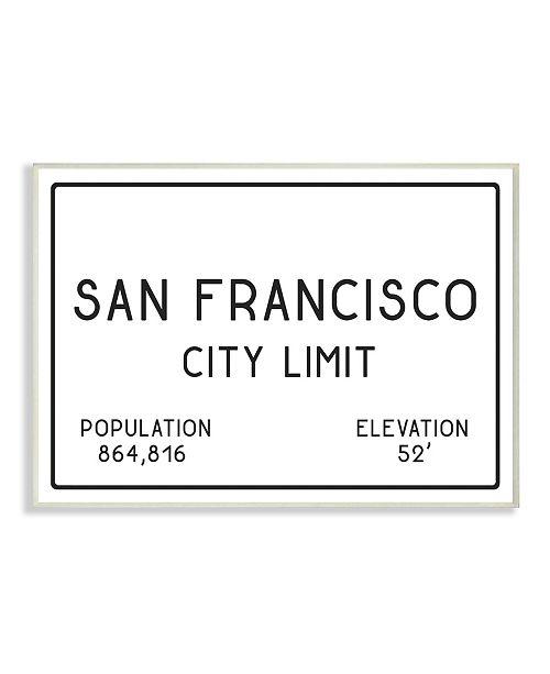 "Stupell Industries San Francisco City Limit Wall Plaque Art, 12.5"" x 18.5"""