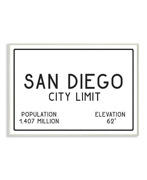 "Stupell Industries San Diego City Limit Wall Plaque Art, 12.5"" x 18.5"""