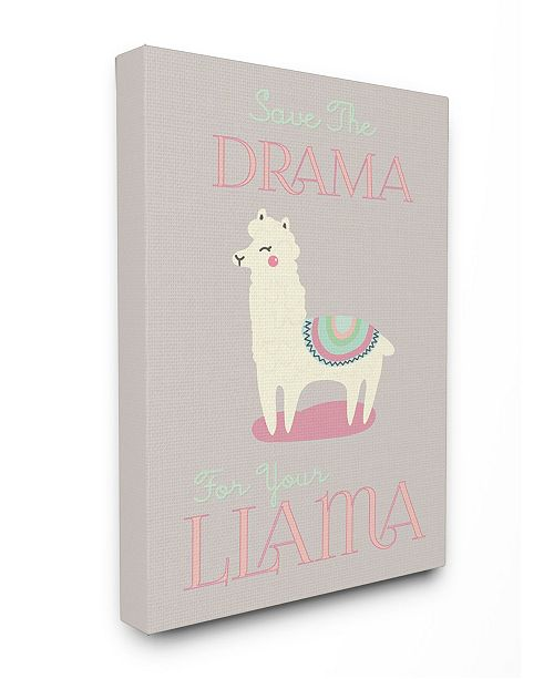 "Stupell Industries Boho Drama Llama Canvas Wall Art, 16"" x 20"""