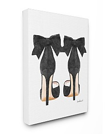 """Stupell Industries Glam Pumps Heels with Black Bow Canvas Wall Art, 16"""" x 20"""""""