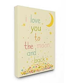 Home Decor I Love You To The Moon and Back Art Collection