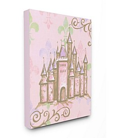 The Kids Room Castle with Fleur de Lis on Pink Background Art Collection
