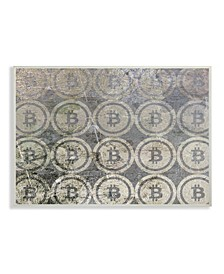 """Bitcoin Pattern on Surface Wall Plaque Art, 10"""" x 15"""""""