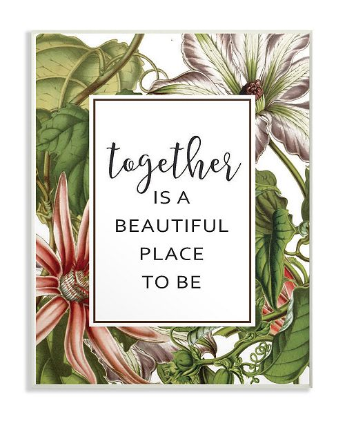 """Stupell Industries Together Is Beautiful Flowers Wall Plaque Art, 12.5"""" x 18.5"""""""