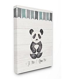"I See You Panda Canvas Wall Art, 16"" x 20"""