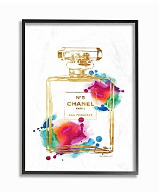 "Stupell Industries Fashion Perfume Gold Rainbow Framed Giclee Art, 11"" x 14"""