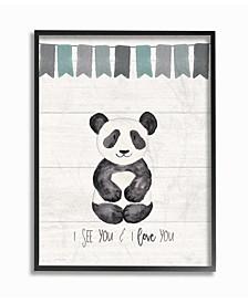 """I See You Panda Framed Giclee Art, 11"""" x 14"""""""