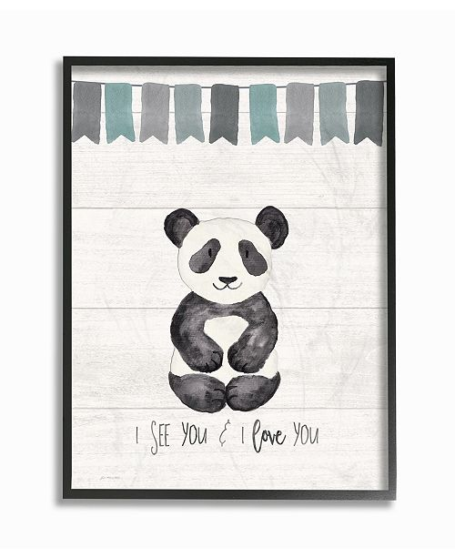 "Stupell Industries I See You Panda Framed Giclee Art, 11"" x 14"""