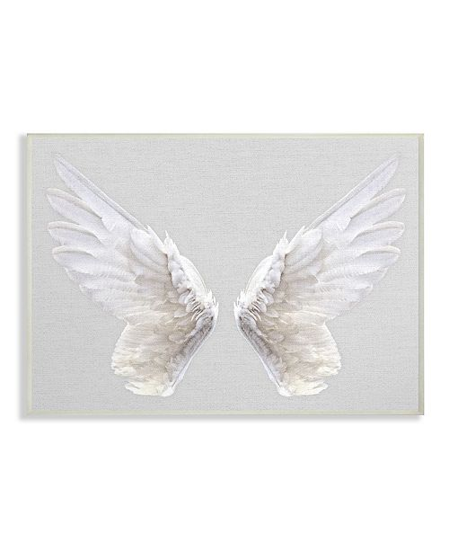 """Stupell Industries Gray Wings Wall Plaque Art, 10"""" x 15"""""""