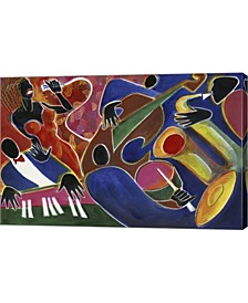 """Jazz Singer by Gil Mayers Canvas Art, 30.75"""" x 20"""""""