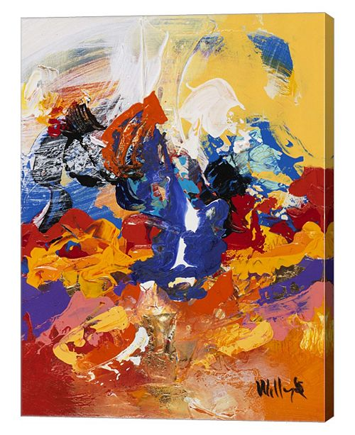 """Metaverse Abstract Red and Yellow 2 by William Malucu Canvas Art, 26.75"""" x 36"""""""