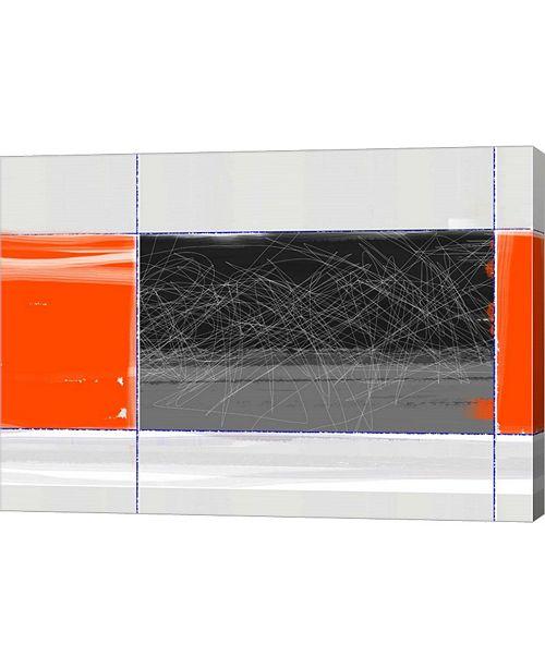 "Metaverse Orange and Black by Naxart Canvas Art, 28.5"" x 20"""