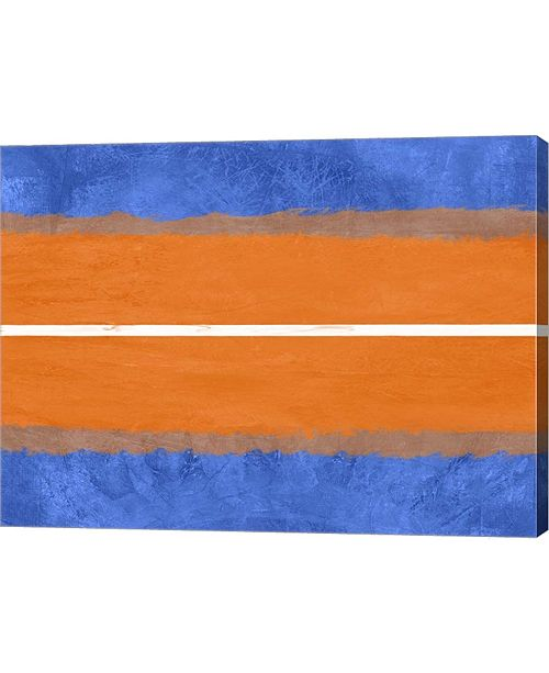 """Metaverse Blue and Orange Abstract Theme 4 by Naxart Canvas Art, 26.5"""" x 20"""""""