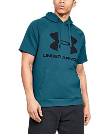 Under Armour Men's Rival Fleece Logo Short Sleeve Hoodie