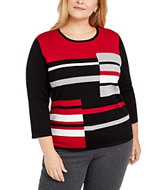 Plus Size Classics Colorblocked Sweater