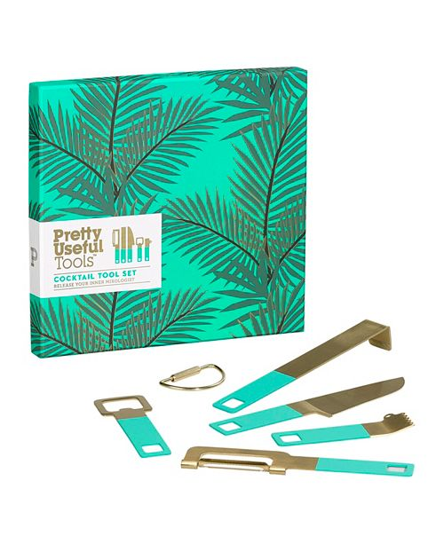 Pretty Useful Tools Cocktail Tool Set Tropical Topaz
