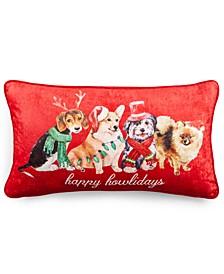 "Happy Howlidays 14"" x 20"" Decorative Pillow"
