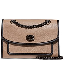 Polished Leather Shoulder Bag