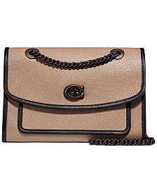 COACH Polished Leather Shoulder Bag