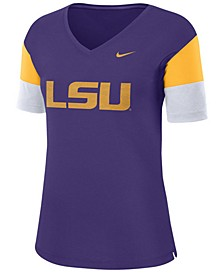 Women's LSU Tigers Breathe V-Neck T-Shirt