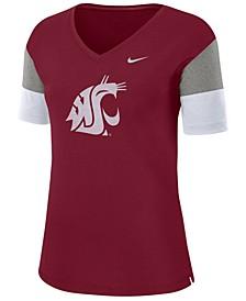 Women's Washington State Cougars Breathe V-Neck T-Shirt