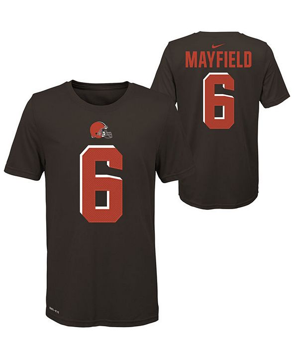 Nike Big Boys Baker Mayfield Cleveland Browns Pride Name and Number T-Shirt