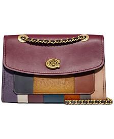 COACH Patchwork Stripe Parker Shoulder Bag