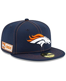 Denver Broncos On-Field Sideline Road 59FIFTY-FITTED Cap