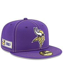 Minnesota Vikings On-Field Sideline Road 59FIFTY-FITTED Cap
