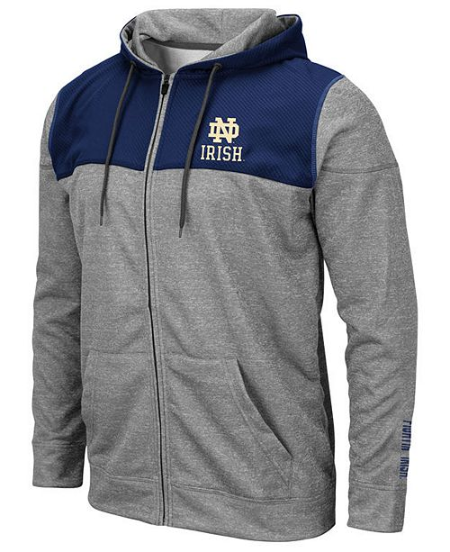 Colosseum Men's Notre Dame Fighting Irish Nelson Full-Zip Hooded Sweatshirt