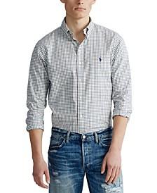 Men's Big & Tall Classic Fit Plaid Twill Shirt