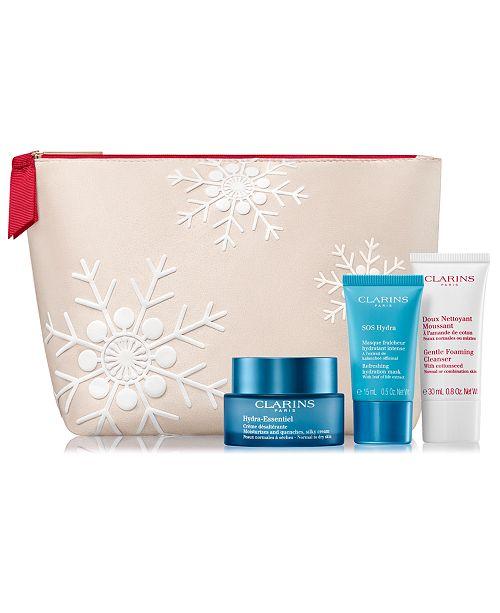 Clarins 4-Pc. Hydration Essentials Skin Solutions Gift Set