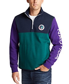 Men's Quarter-Zip Colorblocked Sweatshirt, Created for Macy's